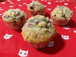 Muffins au fruits rouges et crumble