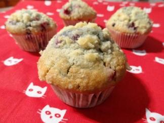 Muffins aux Fruits Rouges et Lait d'Amande