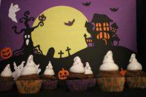 Cupcakes Chocolat et Meringues Fantômes