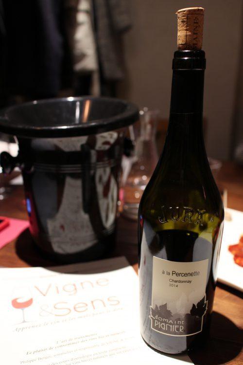 Chardonnay du Domaine Pignier, Côtes du Jura, année 2014