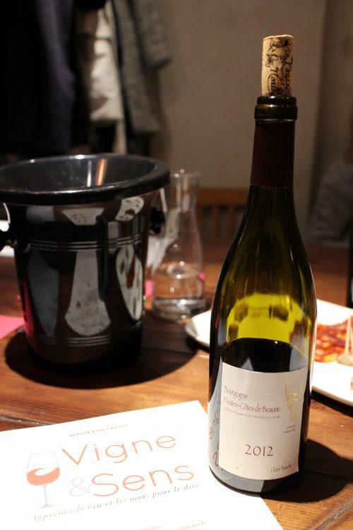 Pinot noir du Domaine Henri Naudin-Ferrand, Bourgogne Hautes-Côtes-de-Beaune, année 2012