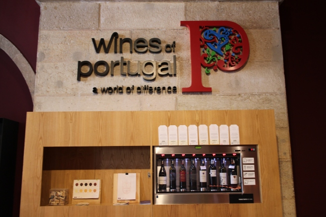 Salle de dégustation des vins du Portugal
