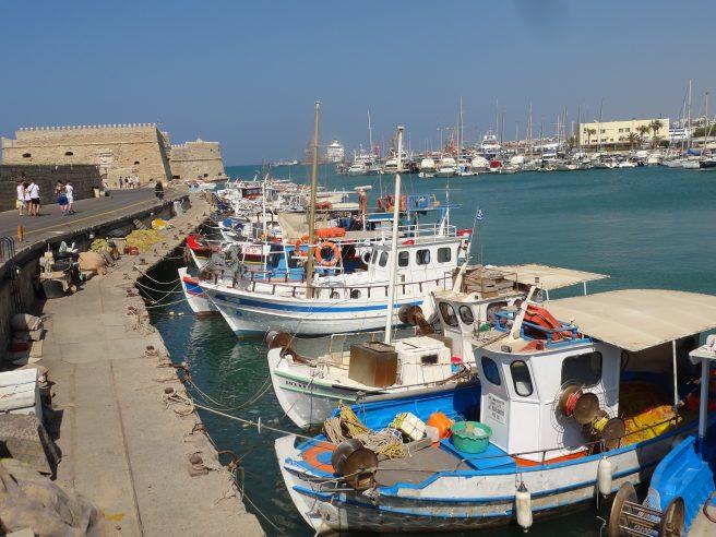 Le Port et le fort vénitien de Heraklion